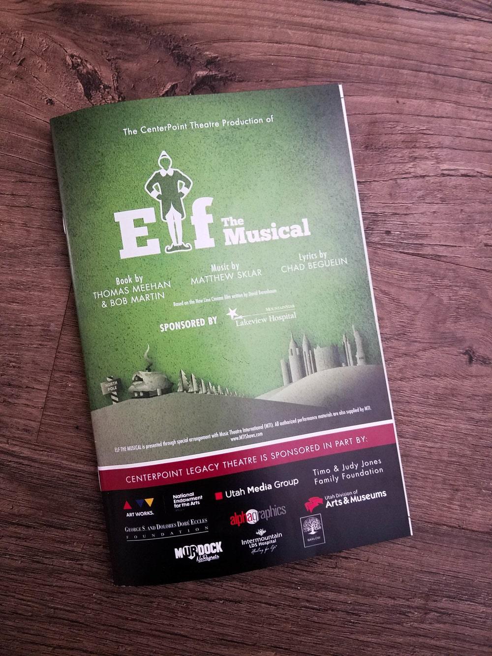 elf the musical at centerpoint theatre centerville utah