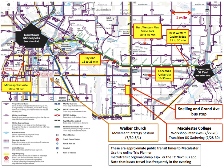 Macalester Transit Map