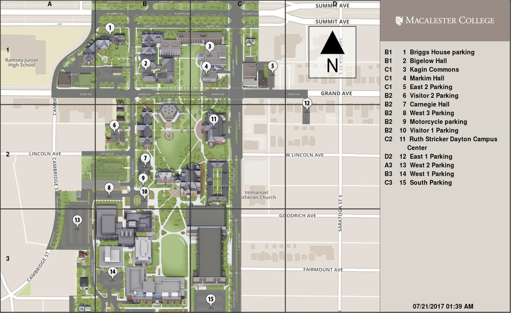 Macalester Campus Map