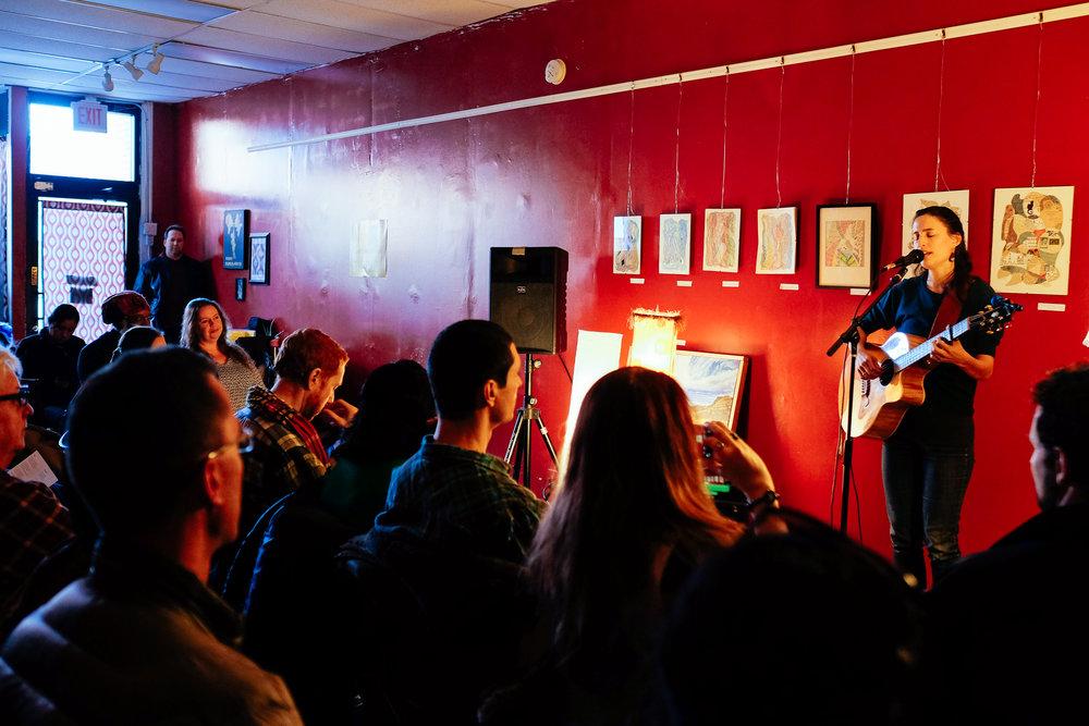 "Leah at ""Stillness"" EP release show, New Rhythm Arts Center (2018)"