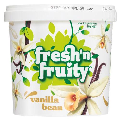 33 tsps. of sugar in this carton of yogurt. Skim milk, sugar and cream are the first three ingredients.