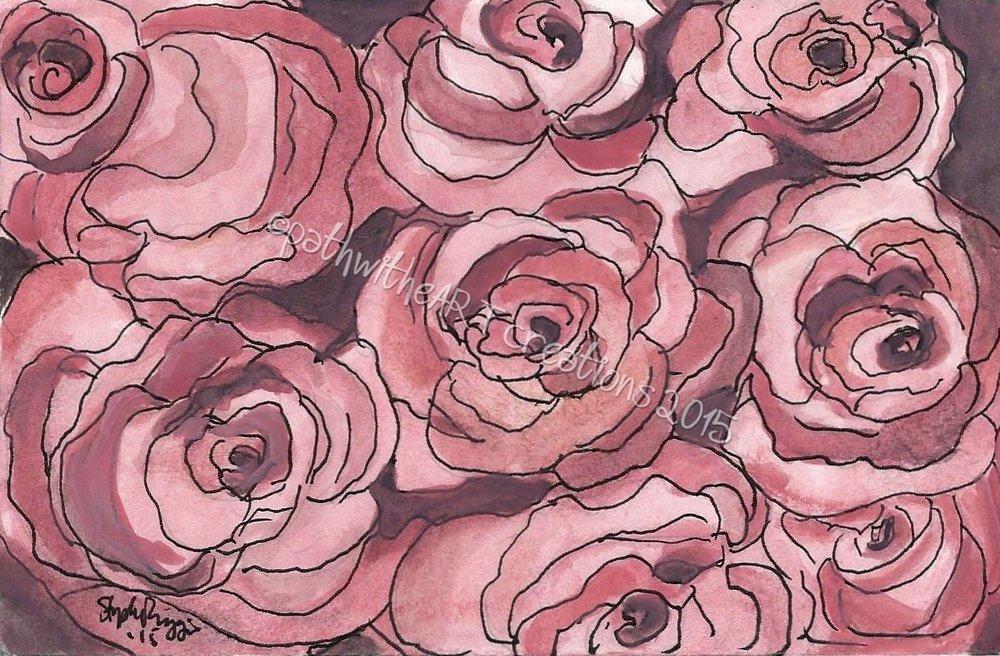 Pink Rose cluster