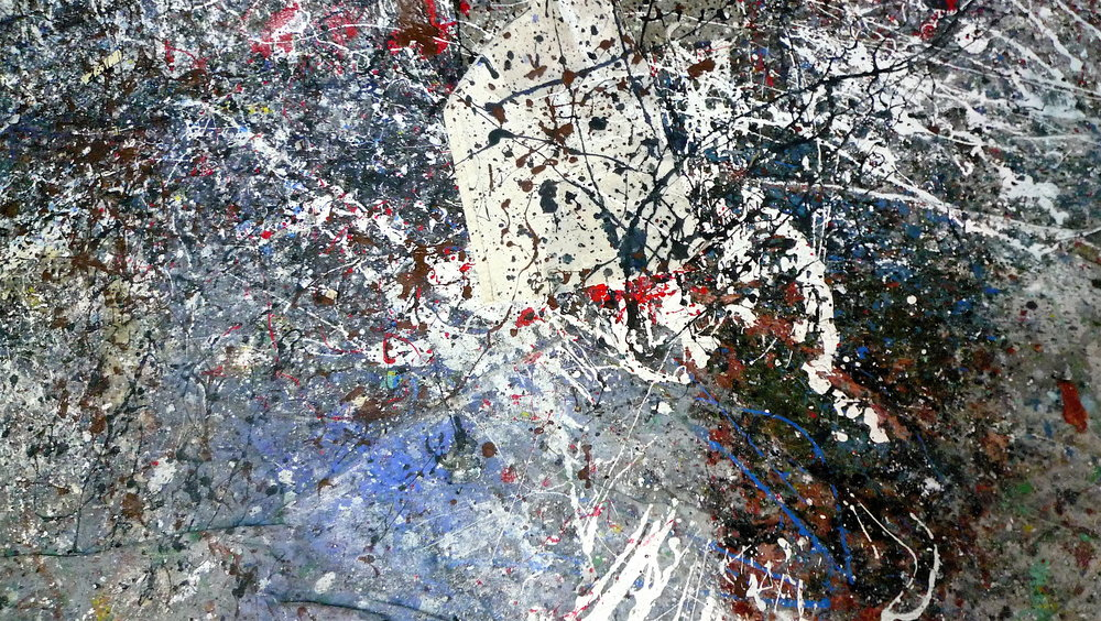 The floor of the studio becomes art itself, testifying to the experience and abstraction of expression...