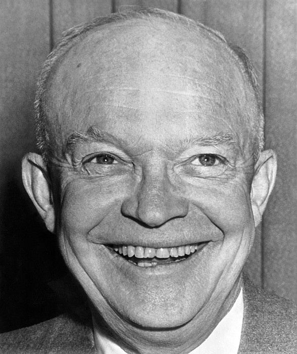 Dwight Eisenhower thinking about Kittens