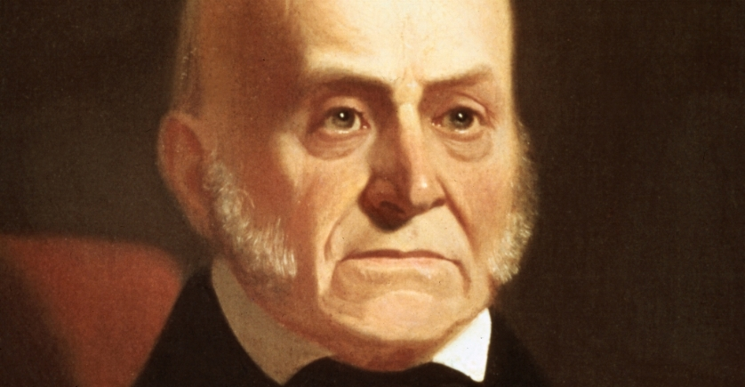 John Quincy Adams  on the happiest day of his life