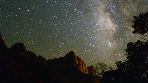 Utah Zion National Park night