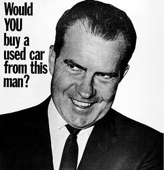 would you buy a used car from this man Nixon ad