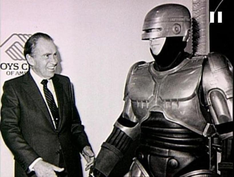 nixon with robocop man who is part of the wave the rise of violent fascism