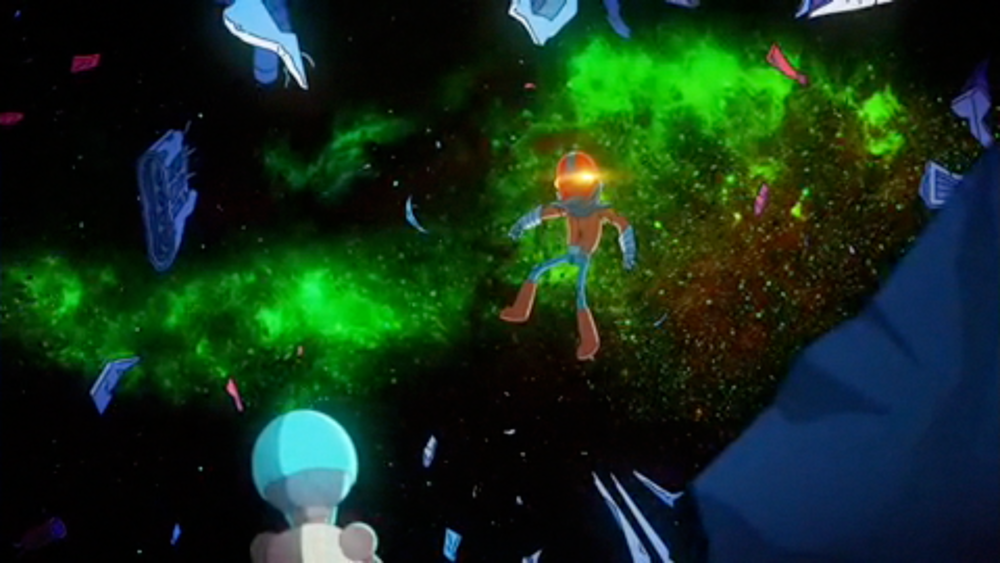 final space Garry in space