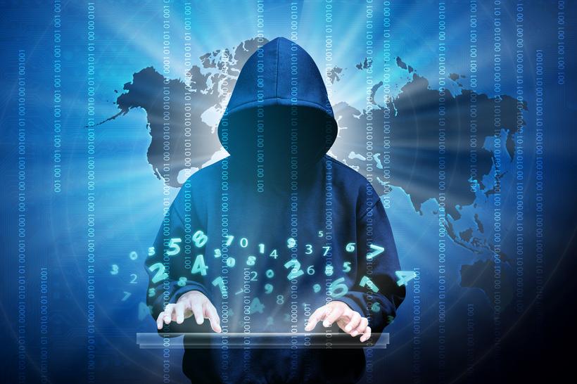 internet hacker breaking the internet