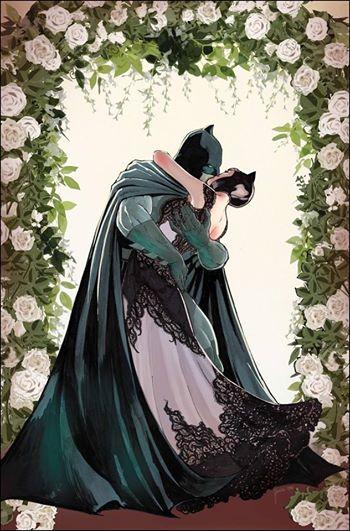 Batman and Catwoman wedding Selina Kyle Bruce Wayne