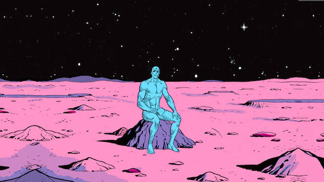 Watchmen Alan Moore Dave Gibbons  John Higgins comic dc  doctor manhattan mars