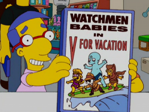 watchmen babies in v for vacation Simpsons  Husbands & Knives alan moore
