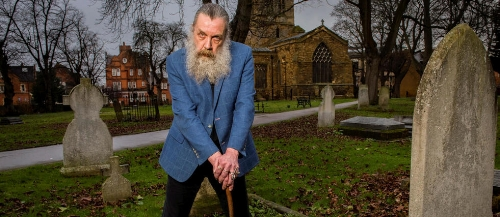 Alan Moore at his home in Northampton