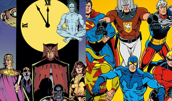lue Beetle (Dan Garrett) ( WP ,  DCDP )Charles Nicholas Wojtkowski Nite Owl (Hollis Mason)   Blue Beetle (Ted Kord) ( WP ,  DCDP )Steve Ditko Nite Owl (Dan Dreiberg)   Captain Atom ( WP ,  DCDP )Joe Gill Steve Ditko Doctor Manhattan   Nightshade ( WP ,  DCDP )Joe Gill Steve Ditko Silk Spectre (Laurie Juspeczyk)   Peacemaker ( WP ,  DCDP )Joe Gill Pat Boyette Comedian   The Question ( WP ,  DCDP )Steve Ditko Rorschach   Thunderbolt (Peter Cannon) ( WP ,  DCDP )Pete Morisi Ozymandias