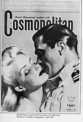 This is really Gerald ford on the cover of cosmopolitan