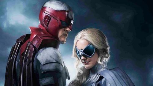 Alan Ritchson and Minka Kelly as Hawk and Dove live action teen titans dc