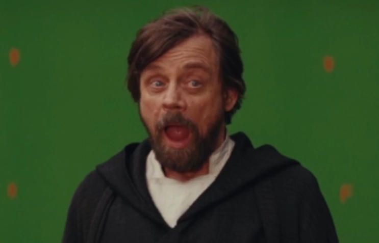 Mark Hamill  as  Luke Skywalker , a powerful  Jedi Master  who has been in self-imposed exile on the planet  Ahch-To . [11]  [12]  Hamill voices Dobbu Scay, named after the film's editor,  Bob Ducsay . During the Canto Bight scene, the character mistakes BB-8 as a slot machine