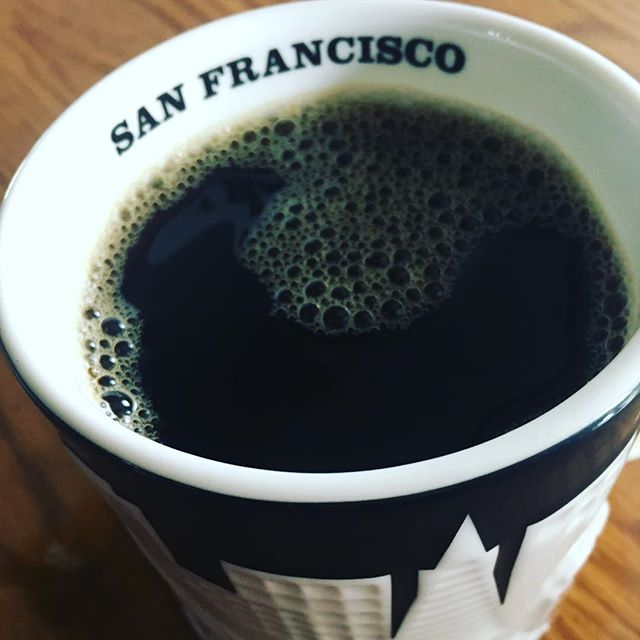 Dreaming of California (and more coffee.) #traveling #california #coffee #mug #sanfrancisco