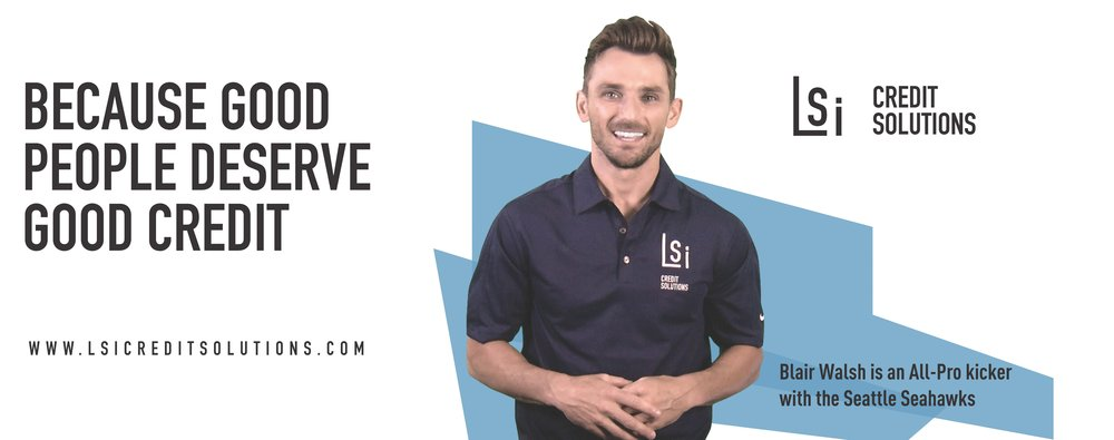 LSI Credit Solutions Endorsed by Blair Walsh Seattle Seahawks Placekicker NFL
