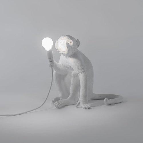 Monkey Lamp Sitting Monkeylampsittingbehind