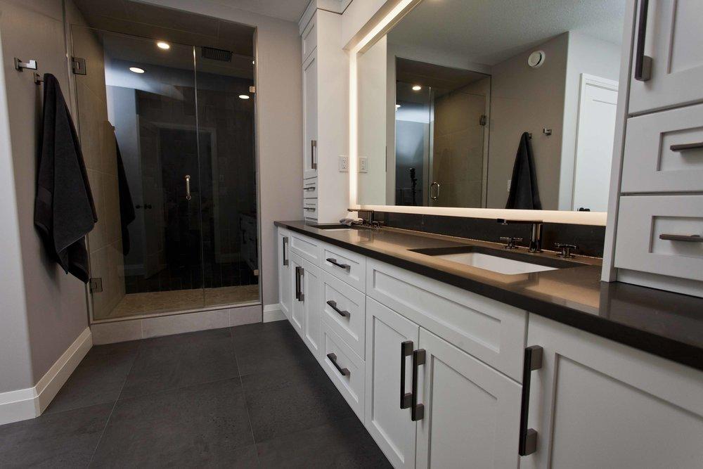 Workshop Cabinets & Design Camrose Alberta Interior Design and Cabinetry Bathroom Design Master Bath