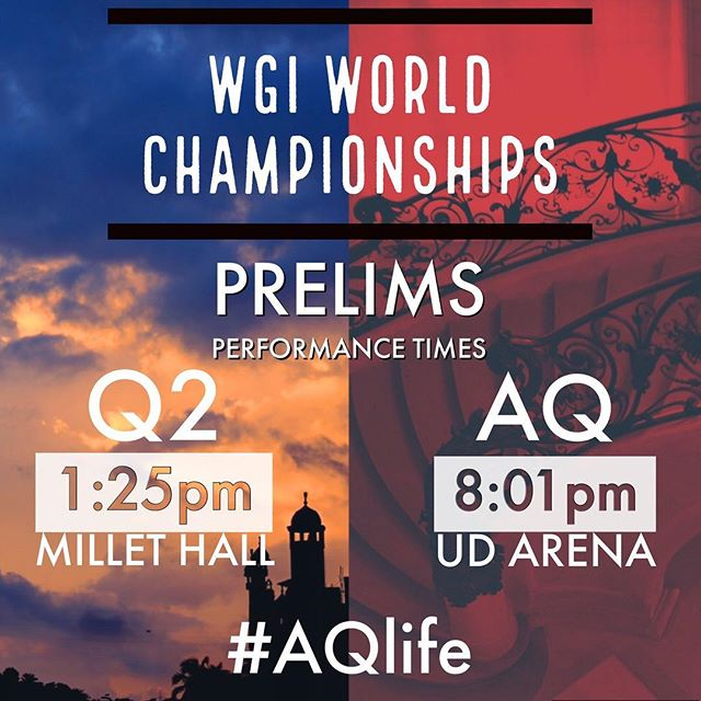 Both groups have hit the road to Dayton. Make sure you catch our prelims performance times tomorrow!! #AQlife #InTheAir #WhatWeLeaveBehind #AtlantaQuest #wgi2017
