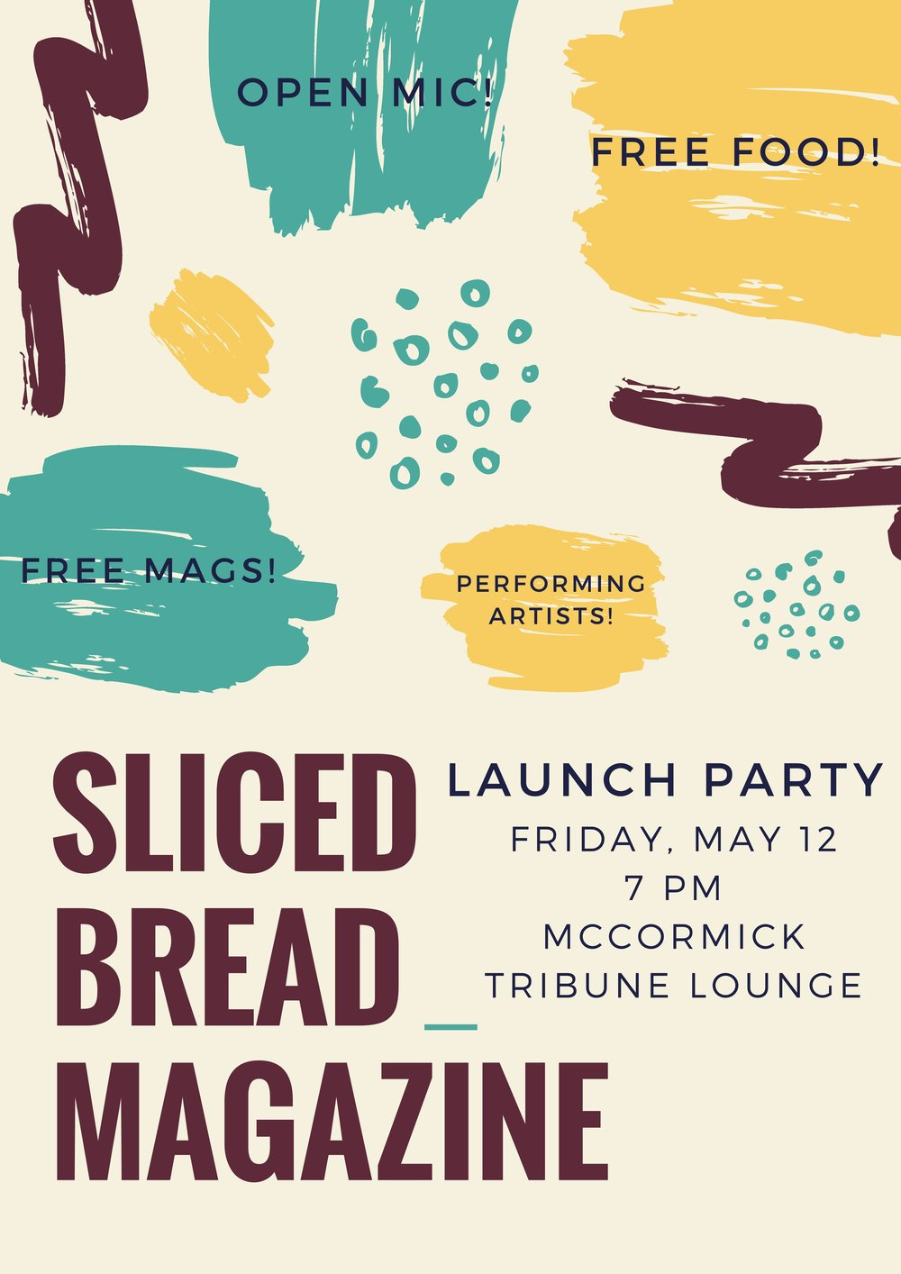 Launch Party Spring 2017 poster