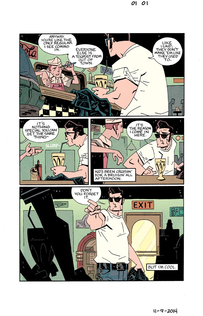 BENT EIGHT #1 pg1 (pitch) w/ Joe DellaGatta (pencils, inks, lettering), Mat Lopes (color)