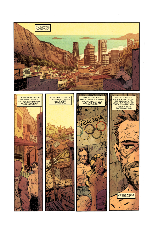 EXPATRIATE #1 pg1 (pitch) w/ Ricardo Lopez Ortiz (pencils, inks, lettering), Mat Lopes (colors)