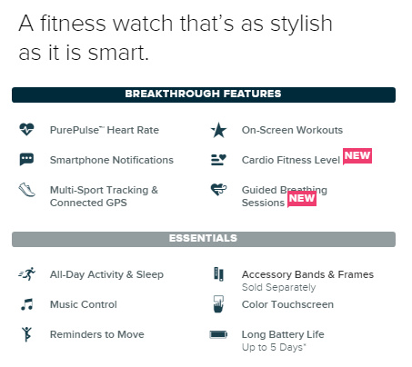 Fitbit Blaze - 作為一隻革命性加入了健身元素的智能創新手錶,Fitbit Blaze可以監測你既心跳、睡眠模式以及容許你控制你智能手機中的音樂播放器。有著咁吸引既手錶形設計、顏色、不同既手帶選擇以及額外既健身元素,Fitbit Blaze絕對適合任何一位健身愛好者。更多資訊可以按此處獲得。
