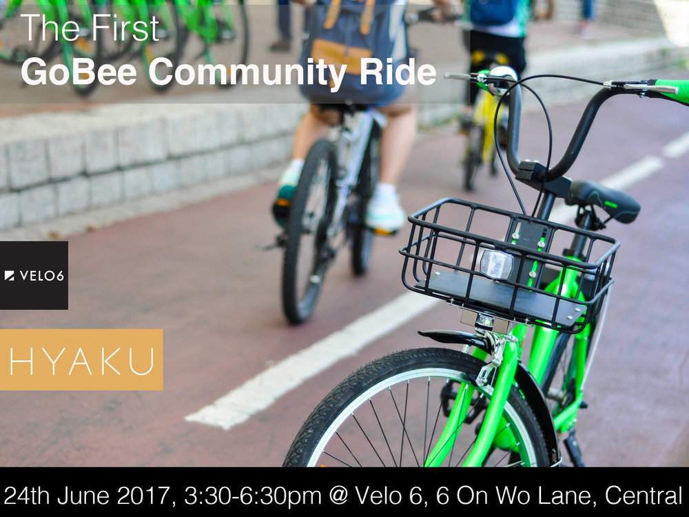 "Come join us in our first positive social cycling movement! To register, email us at marketing@gobee.bike with ""GOBEE RIDE"" in subject title."