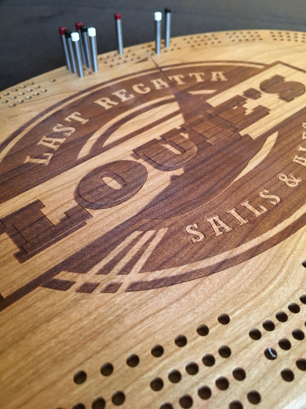 Louie's Last Regatta Cribbage Board