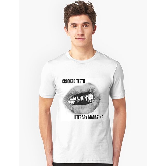 Check it out! You can now get merchandise with the original Crooked Teeth logo: from t-shirts to stickers to tote bags to notebooks--our Redbubble's got it all! Rep your creative side with Crooked Teeth merch, available for purchase through our Redbubble! All profits go to funding our next print run. (Link in our bio!) https://www.redbubble.com/people/crookedteethmag/works/27093993-crooked-teeth-original-logo