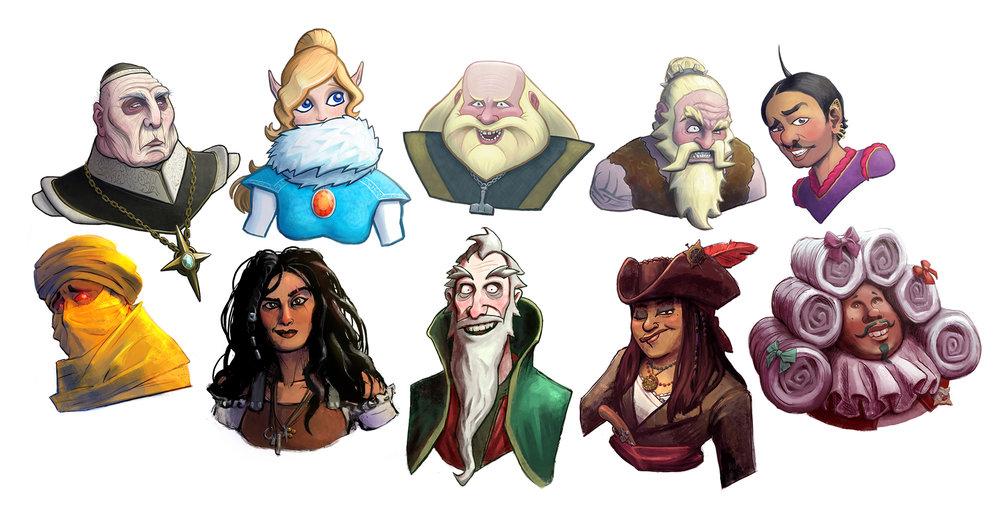 """Character Card"" Portraits"