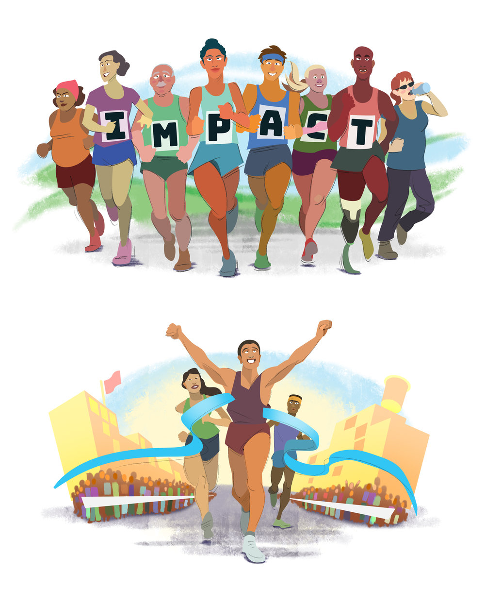 Impact Magazine Marathon Illustrations