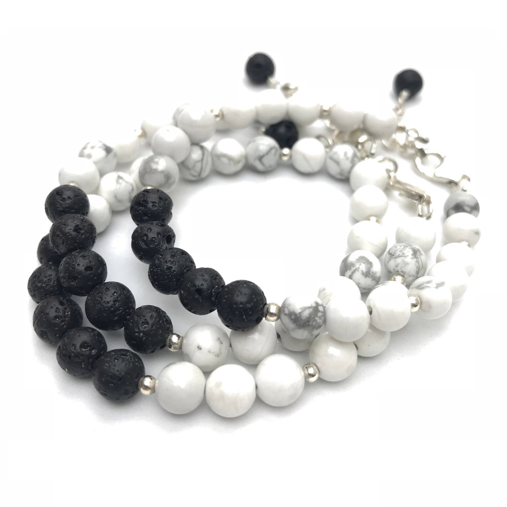 HOWLITE & LAVABRACELETS - CLICK HERE TO BUY