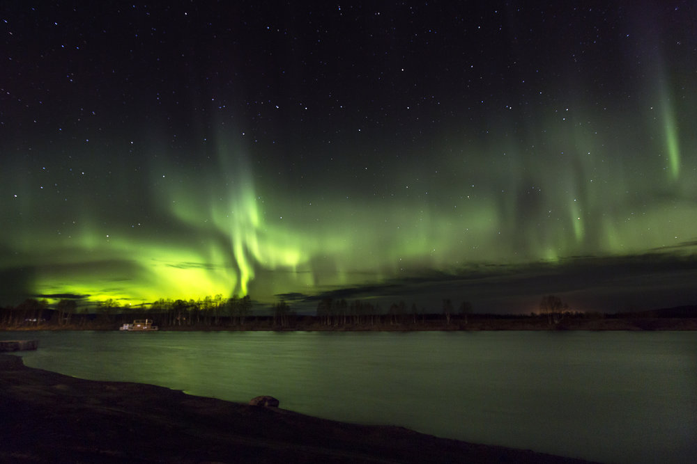 NORTHERN LIGHT TRACK - As soon as we spot tracks for the northern lights in the cold sky, we will go over to the island Haapakyllä. You may get your own amazing picture from the northern lights. Take it home and celebrate this magical moment.