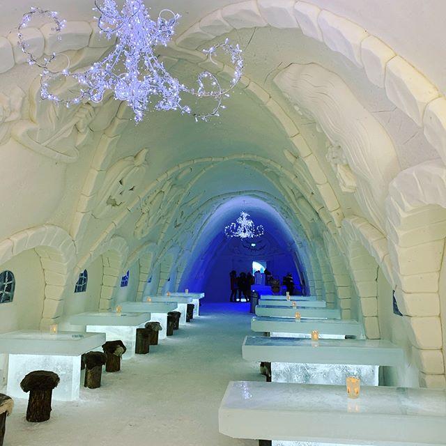 Drink anyone? @original_lapland_tornedalen #fantastictime #winterwonderland #polarcircle #torneälv #kemisnowcastle