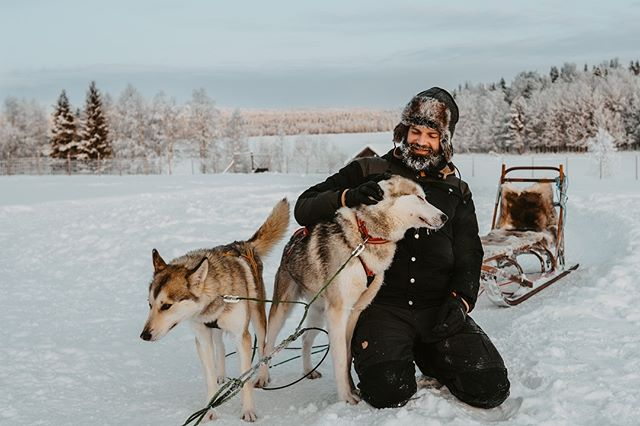 It can also be emotional when our guests see the huskys for the first time🥰 #fantastictime #norrskenlodgetour @mountainmadnesshusky . . . . . . #travellapland #travelscandinavia #visitsweden #exploresweden #explorescandinavia #instasweden #polarcircle #torneälv #övertorneå #visitlapland #winterwonderland #naturelovers #makeadventure #wanderlust #ourlapland #northernlights #ig_sweden #outdoorbloggers #goexplore #simplyadventure #photooftheday #thearctic #scandinavia #swedishlappland #husky
