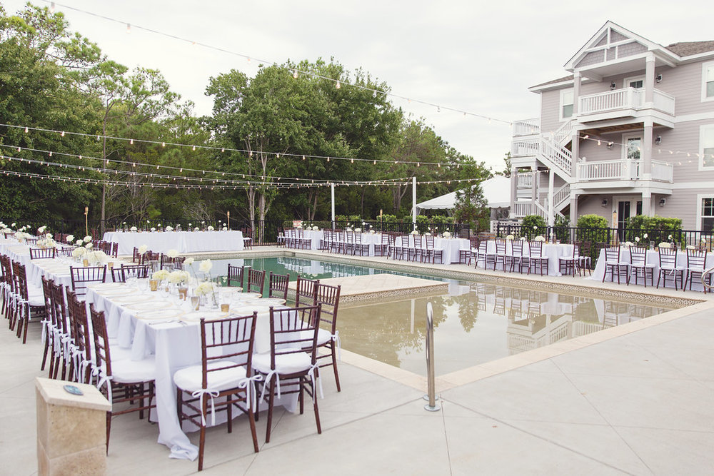 The Black Stallion Wedding - Poolside Dining