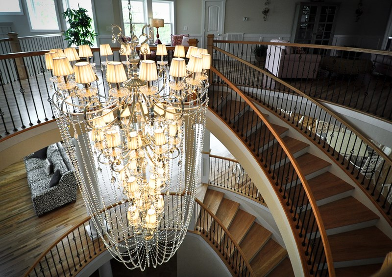Chandelier with Spiral Staircase