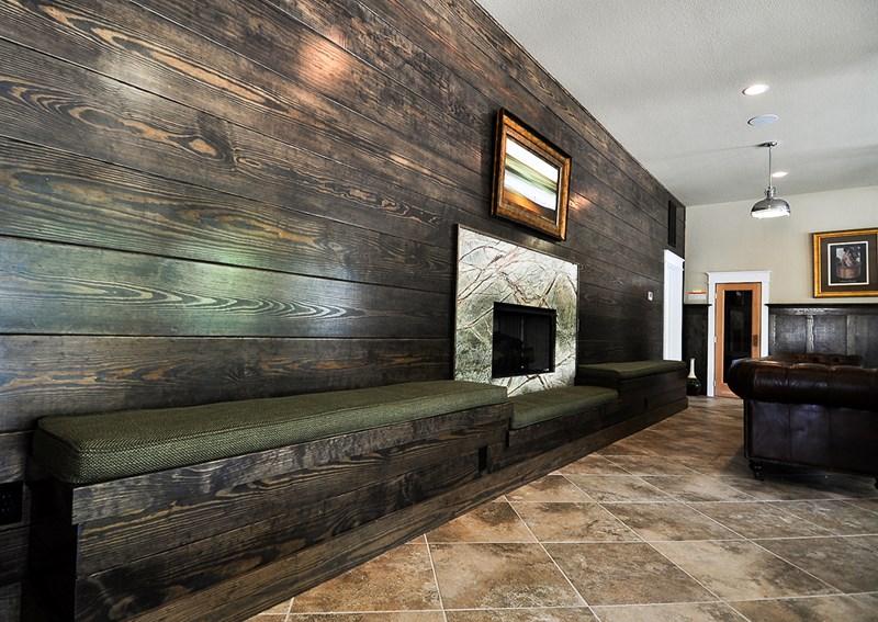 Cabana level 1 fireplace