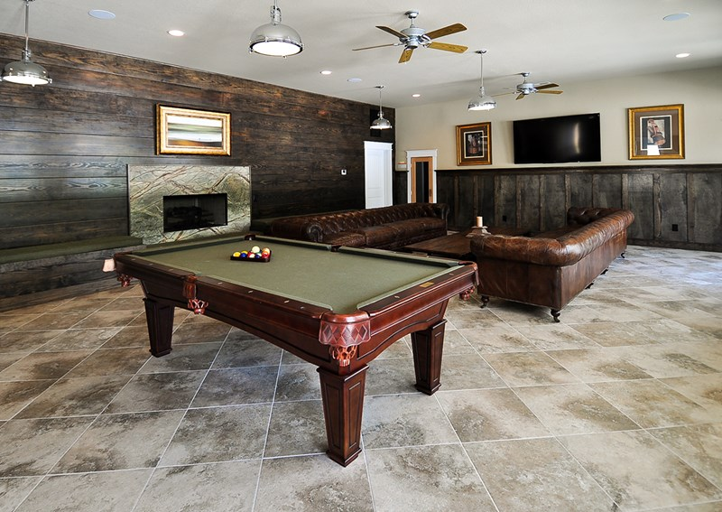 Pool table in Cabana