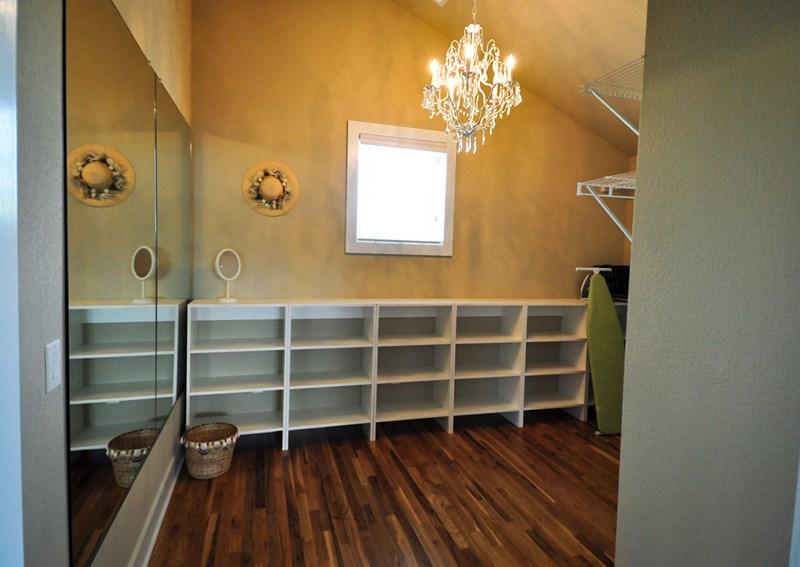 Bridal suite closet