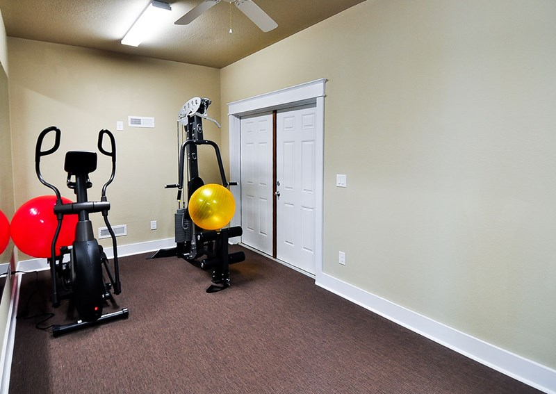 Fitness room in cabana