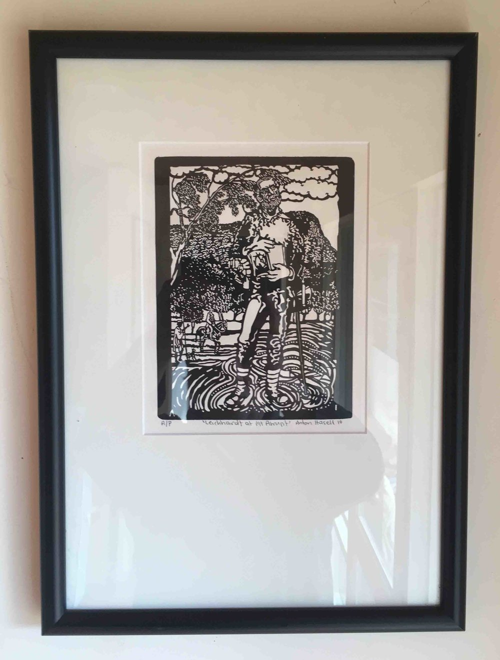 'Leichhardt at Mt Abrupt' 2010 0.25m by 0.15m, laser cut plate relief print