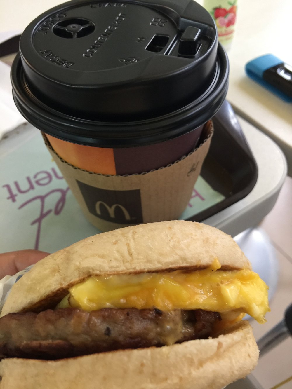 Today's brekkie situation at  Mc Donald's