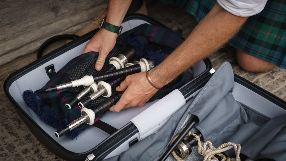 Organised and Protected  - A matching range of Drone-rolls, Chanter Tubes , Reed holders and pouches are available to keep accessories contained and give dissasembled pipes an extra layer of protection during transit, arriving organised and ready to set up.