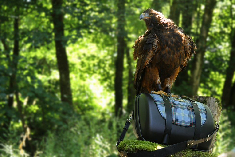 Beautiful, yet Rugged - The advanced hard-shell construction, that keeps your pipes protected, is manufactured and tested extensively in Glasgow, to ensure they hold up to the wear and tear of travel.We also put the bag to the test,  and into the claws of Orla, the Golden Eagle, who can apply two tons of crushing power with her claws alone.